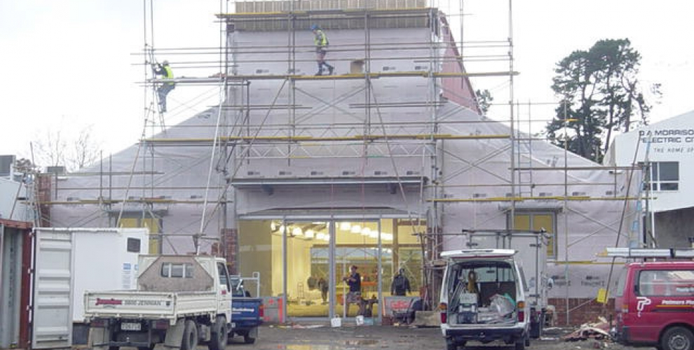 4. Rear View Scaffolding